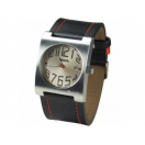 Bench Mens Beige Dial Black Leather St..