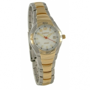 Krug Baumen 040445KL Ladies Voyager White Silver Gold Watch