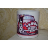 koolart Mini  Rally Car 10oz white cer..