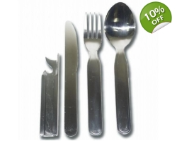 Metal Knife Fork and Spoon Set