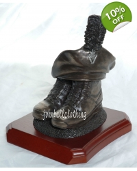 Caubeen and Boots Bronze Resin Present..