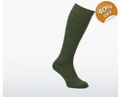 Silverpoint Long Hiker Green Sock