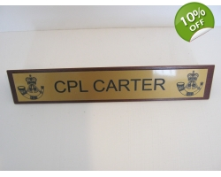 Regimental Desk Name Plate on Wooden B..