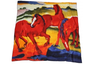 Silk scarf and necktie: Franz Marc, Red Horses