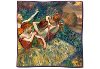 Silk scarf: Edgar Degas, Four Dancers