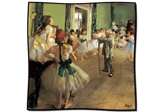 Silk scarf: Edgar Degas, The Ballet Class