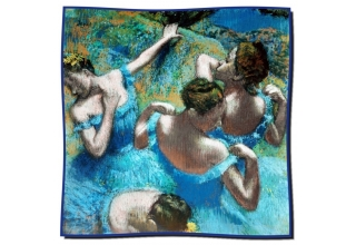 Silk scarf: Edgar Degas, Blue Dancers