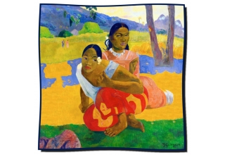 Silk scarf: Paul Gaugin, When will you marry