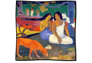 Silk scarf: Paul Gaugin, Arearea or The Red Dog