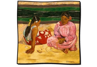Silk scarf: Paul Gaugin, Tahitian Women