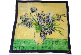 Silk scarf: Vincent Van Gogh, Irises in Vase