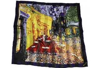 Silk scarf: Vincent Van Gogh, Cafe Terrace at Night
