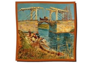 Silk scarf: Vincent Van Gogh, Bridge at Arles