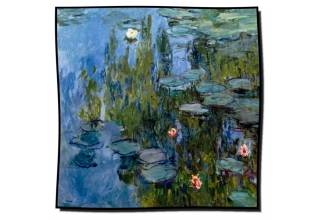 Silk scarf: Claude Monet, Waterlilies