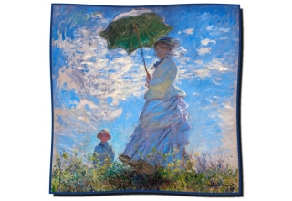 Silk scarf: Claude Monet, Woman with a Parasol - Madame Monet and Her Son