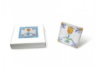 Tile with a Dutch motif - Golden Tulip, 10x10