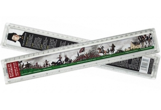 Battle of Waterloo History Ruler - 30cm