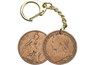 Victorian Penny Key-Ring