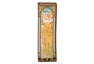 Silk long scarf: Alphonse Mucha, The Day
