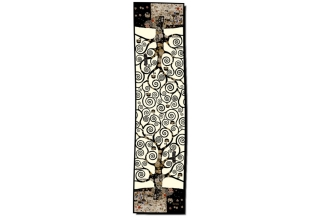 Silk scarf long: Gustav Klimt, Tree of Life, Creme