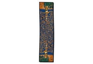 Silk scarf long: Gustav Klimt, Tree of Life, Blue