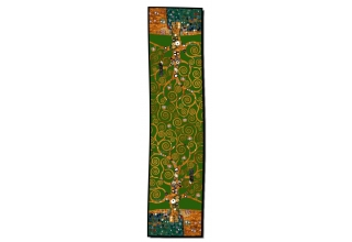 Silk scarf long: Gustav Klimt, Tree of Life, Green