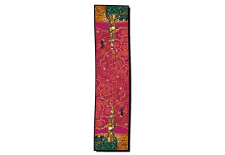 Silk scarf long: Gustav Klimt, Tree of Life, Red