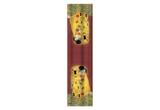 Silk scarf long: Gustav Klimt, The Kiss Red