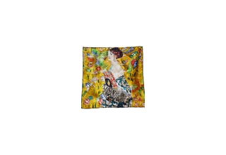 Silk cloth square: Gustav Klimt Lady with Fan COPY