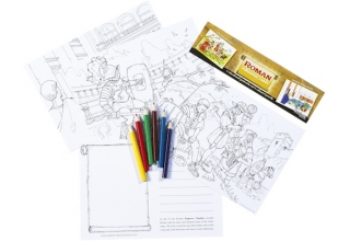 Roman Educational Colouring Postcards