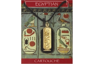 Cleopatra Cartouche Pendant - Gold Plated