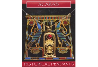 Scarab Gem Pendant - Gold Plated