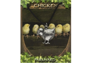 Chicken Pendant - Pewter