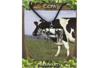 Cow Pendant - Pewter