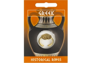 Greek Owl Coin Ring - Gold Plated