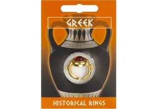 Greek Dolphin Gem Ring - Gold Plated