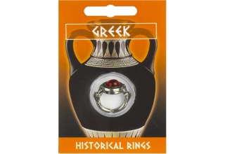 Greek Dolphin Gem Ring - Pewter