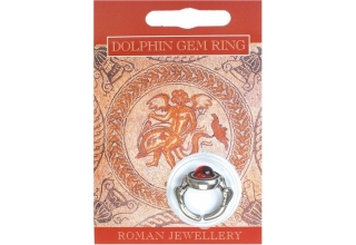 Dolphin Gem Ring - Pewter
