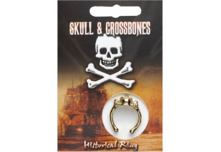 Skull & Crossbones Ring - Gold Plated