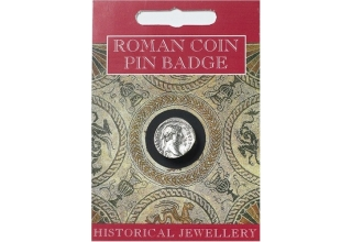Hadrian Coin Pin Badge