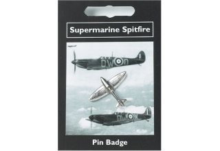 Supermarine Spitfire Pin Badge - Pewter