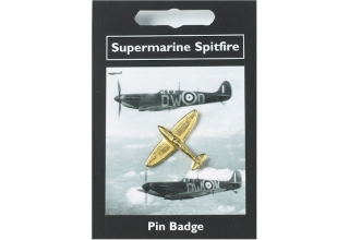 Supermarine Spitfire Pin Badge - Gold Plated