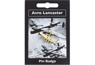 Avro Lancaster Pin Badge - Gold Plated