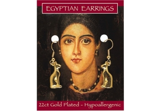 Egyptian Cat Earrings