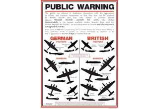 World War II Aircraft Identification Poster - A3