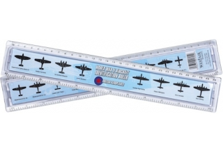 World War II Aircraft Identification Ruler - 30cm