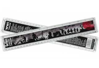 World War I History Ruler - 30cm