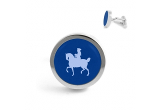 Cufflinks ''Frederick the Great'', light blue-silver