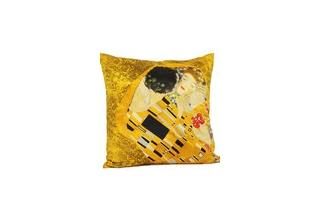 Silk cushion cover: Gustav Klimt, The Kiss I