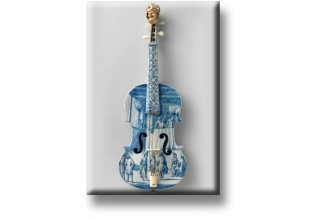 Fridge Magnet Faience Violin, 1705-1017